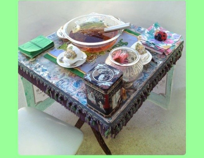 Good CLEAN 656x510 Emerald Aura Frame of tea table